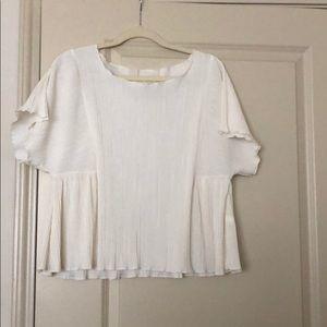 Madewell pleated blouse